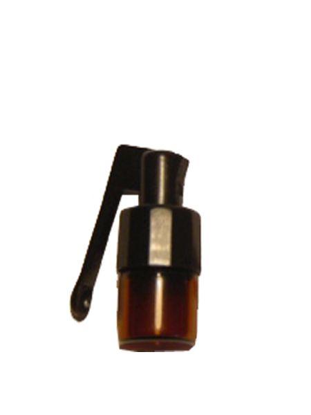 Glasfläschchen klein mit Klapplöffel, Höhe: 3cm