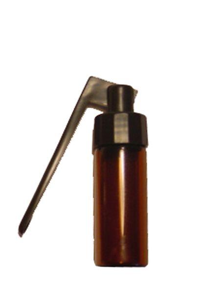Glasfläschchen groß mit Klapplöffel, Höhe: 5,5cm