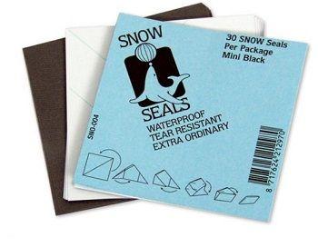 Wachspapier, SNOW SEALS, 30er Pack schwarz, MINI