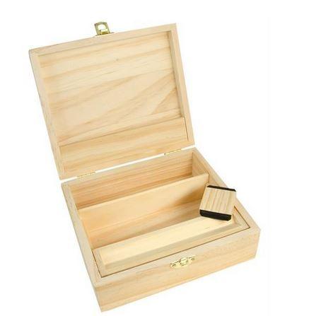 Box Dreh-Tray Aufbewahrungsbox aus Holz