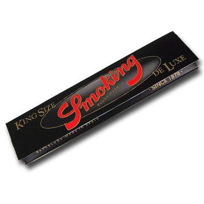 Smoking Schwarz King Size Slim Blättchen, 33 Blatt