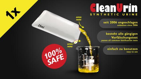 Clean Urin synthetischer Urin, 25 ml