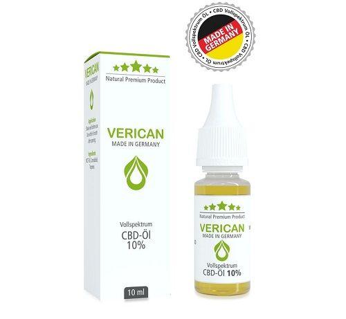 Verican CBD Vollspektrum Aroma Öl, 10%
