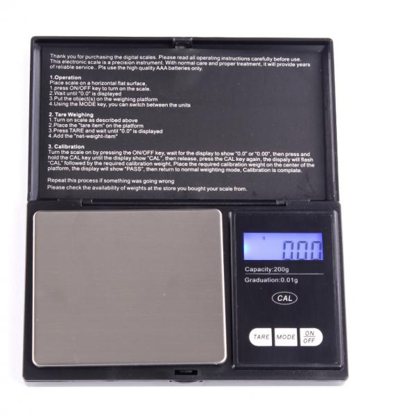 Shanti Digitale Taschenwaage bis 200g mit 0,01g